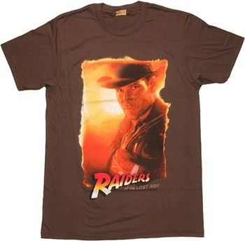 Indiana Jones Raiders of the Lost Ark Portrait T-Shirt Sheer