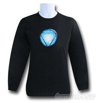 Iron Man Blue Arc Long Sleeve T-Shirt