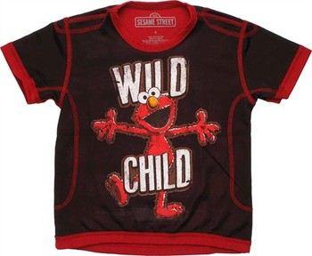Sesame Street Elmo Wild Child Mesh Juvenile T-Shirt
