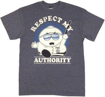 South Park Eric Cartman Respect My Authority T-Shirt