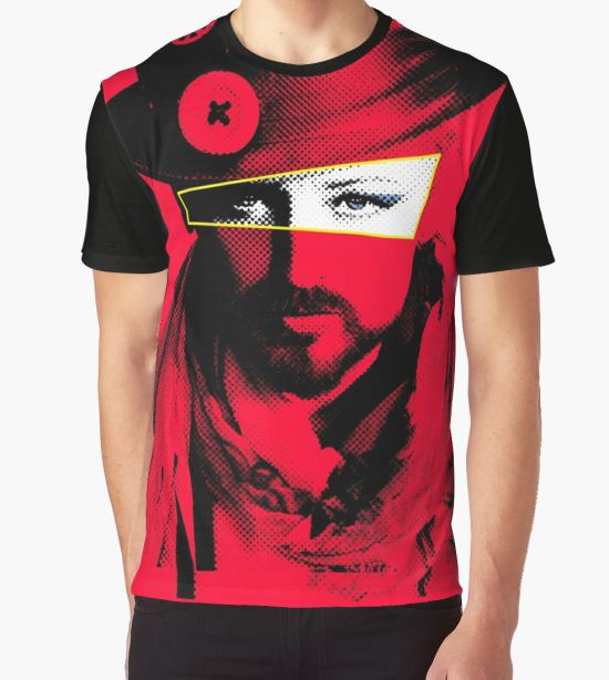 Boy George - Red Graphic T-Shirt by Dean Stockings T-Shirt