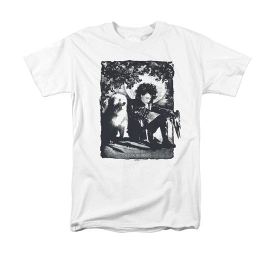 Edward Scissorhands Shirt Lucky Dog Adult White Tee T-Shirt