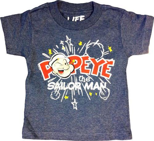 Popeye the Sailorman Pop! Stars Navy Heather Toddler T-shirt