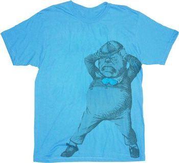 Alice in Wonderland Tweedle Dee Dum Light Blue T-shirt