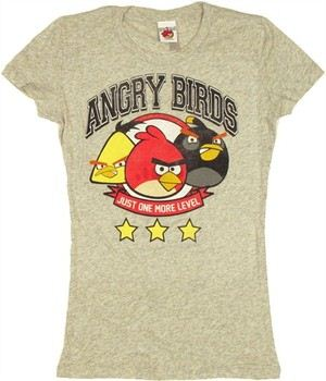 Angry Birds Just One More Level Baby Doll Tee