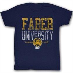 Animal House Shirt Faber University Adult Navy Tee T-Shirt