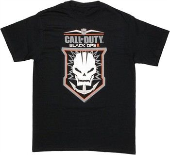 Call of Duty Black Ops 2 Anchored Skull Badge T-Shirt