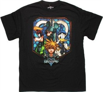 Kingdom Hearts Stained Glass Quad T-Shirt