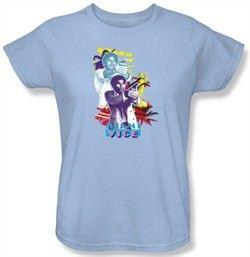 Miami Vice Ladies T-shirt Tubbs Freeze Light Blue Tee Shirt