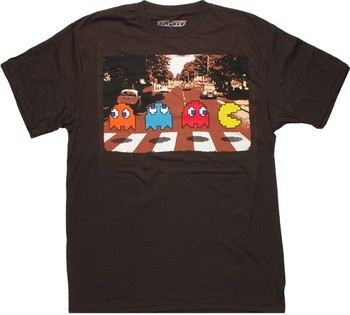 Pacman Crossing Brown T-Shirt