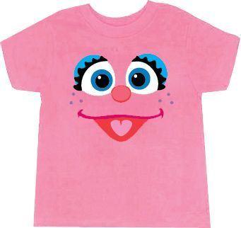 Sesame Street Abby Cadabby Big Face Light Pink Toddlers T-Shirt