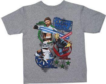 Logo Poppers - Star Wars Clone Wars Juvenile T-shirt