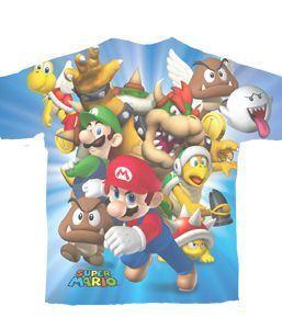 Nintendo Super Mario Characters Cream T-shirt