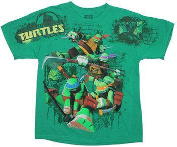 Brick Background - Teenage Mutant Ninja Turtles Youth T-shirt