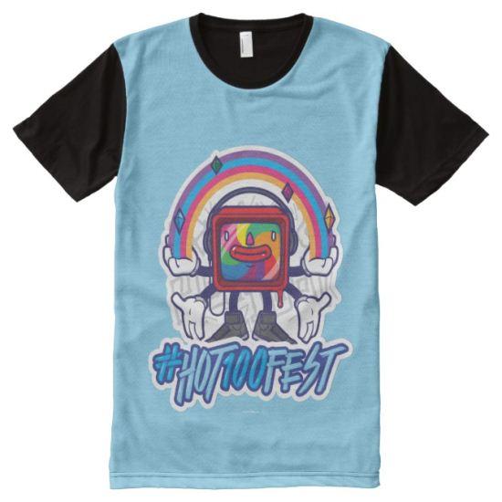 Billboard Hot 100 Festival | Rainbow Monitor All-Over Print T-shirt