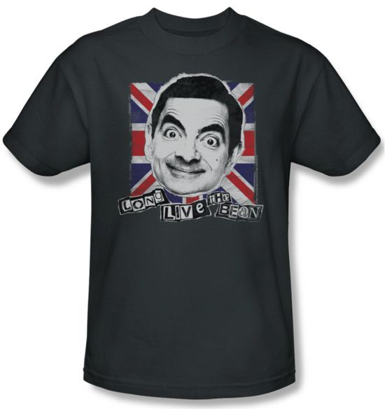Mr. Bean Shirt Long Live Adult Charcoal Tee T-Shirt