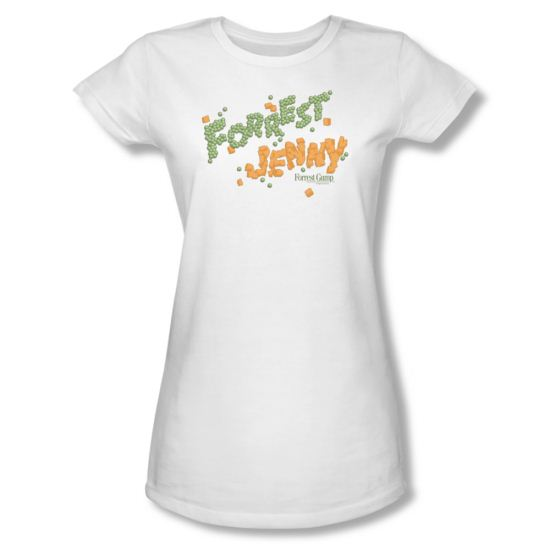 Forrest Gump Shirt Juniors Peas And Carrots White Tee T-Shirt
