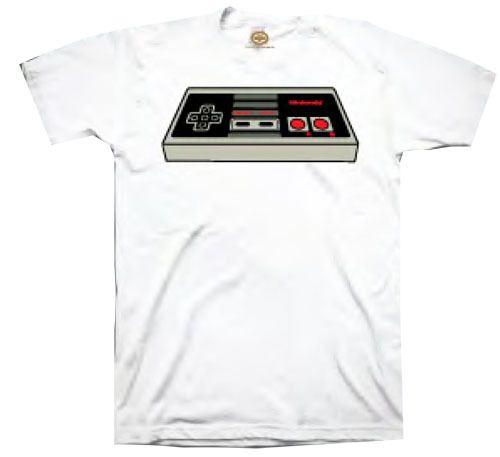 Nintendo Controller White Adult T-shirt