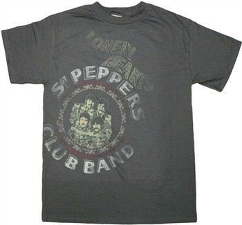 Beatles Sgt Peppers Over-dyed Music T-Shirt