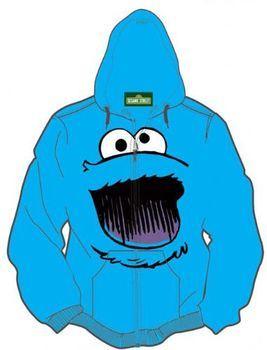 Sesame Street Cookie Monster Adult Hoodie Sweatershirt Jacket