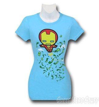 Iron Man Kawaii Flight Women's T-Shirt