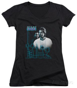 Juniors: Miami Vice - Looking Out V-Neck