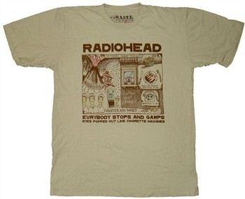 9276230b ... Radiohead Stops And Gawps T-Shirt Sheer