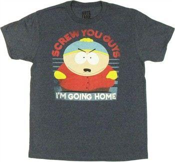 South Park Eric Cartman Screw You Guys I'm Going Home Navy T-Shirt
