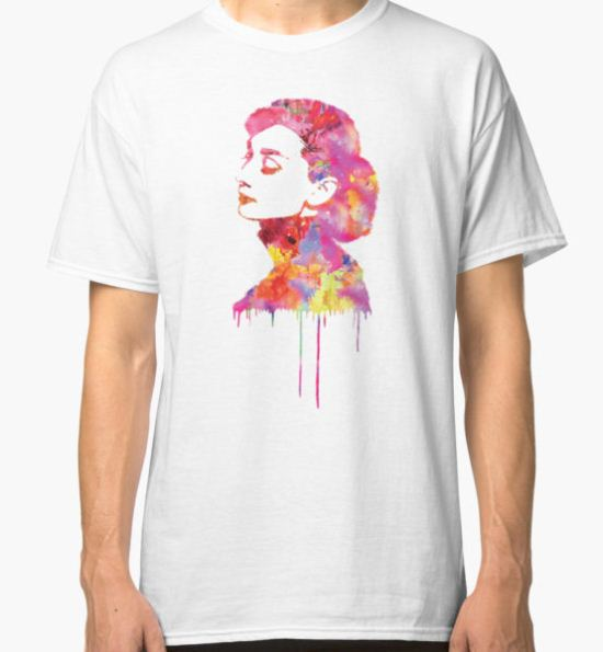 Audrey Classic T-Shirt by fimbisdesigns T-Shirt