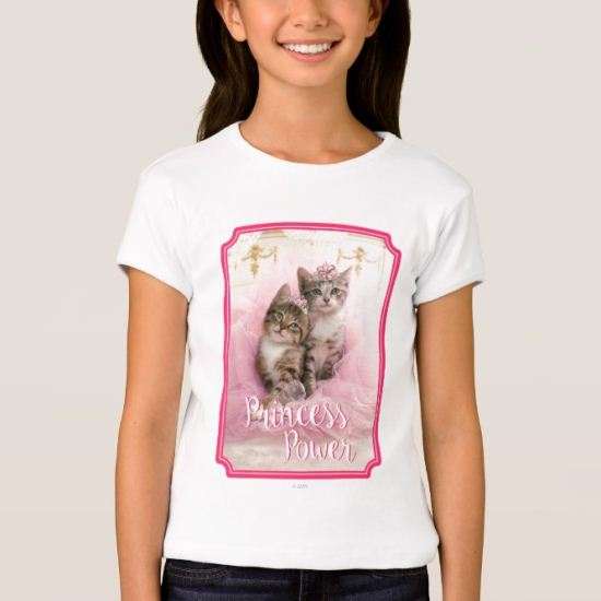 Sweet Kittens in Tiaras and Pink Sparkly Tutu T-Shirt
