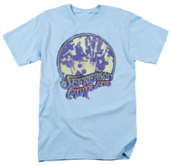 Jefferson Airplane Shirt Practice Adult Light Blue Tee T-Shirt