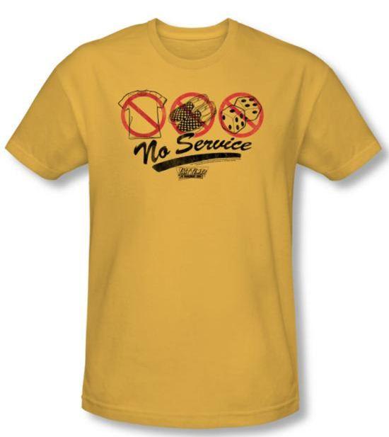 Fast Times At Ridgemont High T-shirt No Service Gold Slim Fit Shirt