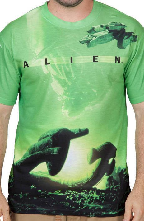 Spaceship Alien Sublimation Shirt