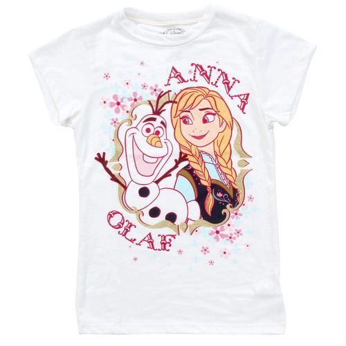 Disney Frozen Anna and Olaf Youth White T-Shirt