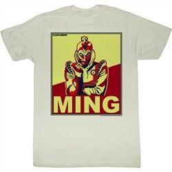 Flash Gordon Shirt Ming Adult Dirty White Tee T-Shirt