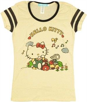 Hello Kitty Picnic Baby Doll Tee by MIGHTY FINE
