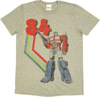 Transformers Optimus Prime 84 Vintage T-Shirt Sheer