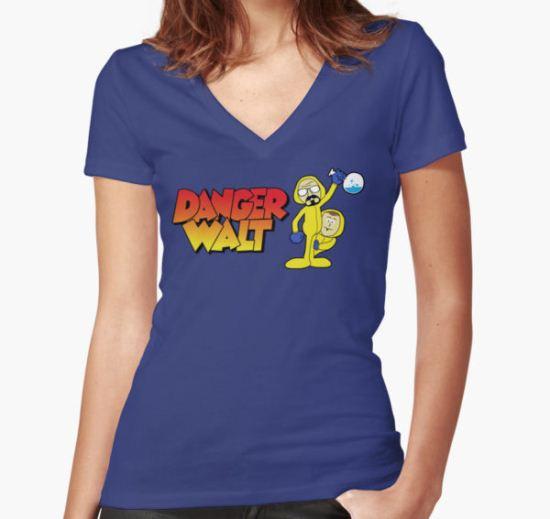 Danger Walt Women's Fitted V-Neck T-Shirt by D4N13L T-Shirt