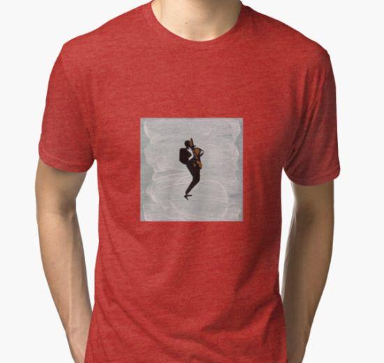 John Coltrane Tri-blend T-Shirt by Michael Tokarski T-Shirt