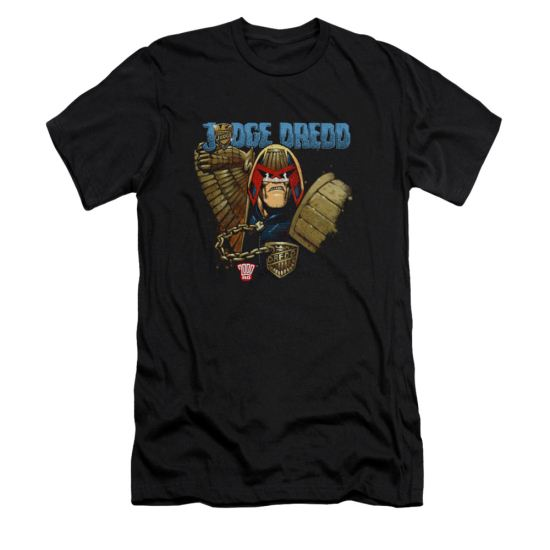 Judge Dredd Shirt Slim Fit Snarl Black T-Shirt