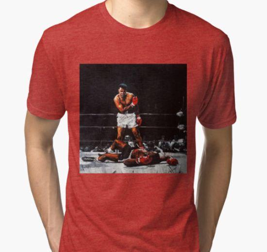 Muhammad Ali Knocks Out Sonny Liston Tri-blend T-Shirt by artkeepsake T-Shirt