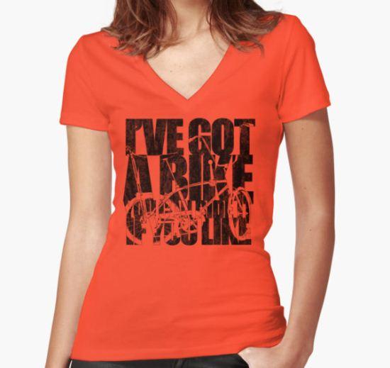 I've Got A Bike Women's Fitted V-Neck T-Shirt by Rossman72 T-Shirt