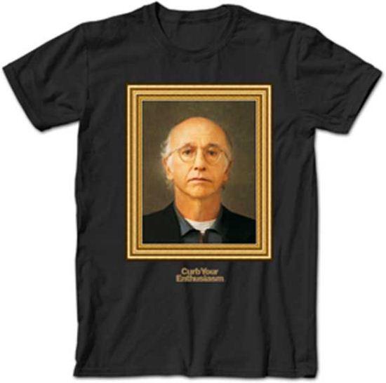 Curb Your Enthusiasm T-shirt Larry Portrait Adult Black Tee