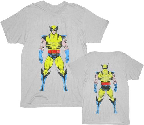 X-men Wolverine Two-Sided Image T-shirt