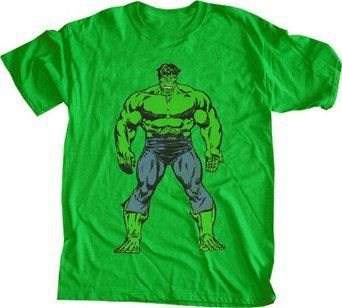 Mens incredible Hulk T Shirt Vintage Style Green Official Marvel