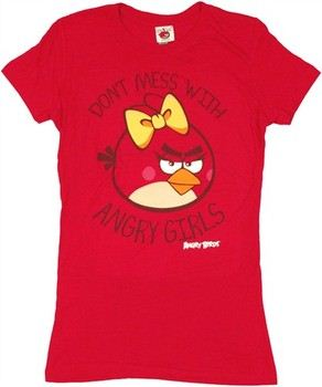 Angry Birds Don't Mess with Angry Girls Baby Doll Tee