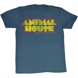 Animal House T-shirt Movie House Fever Adult Blue Tee Shirt