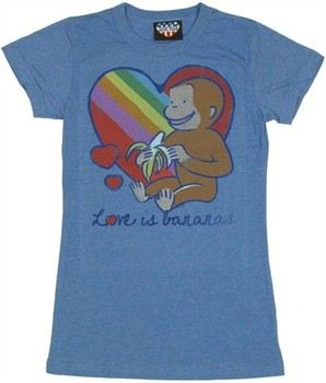Curious George Love is Bananas Baby Doll Tee by JUNK FOOD