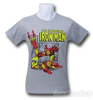 Iron Man Heather Grey Boxes 30 Single T-Shirt