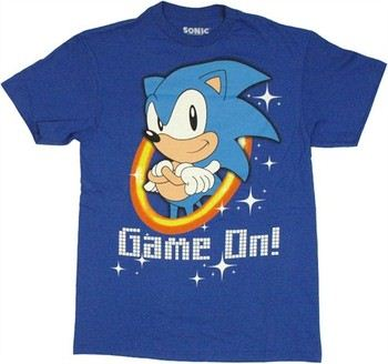 Sega Sonic the Hedgehog Game On T-Shirt